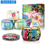 Large Size Scented Candles Gifts Sets for Women-Gardenia, Lavender, Jasmine and Vanilla, $15.99 (REG $29.99)