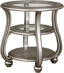 Signature Design by Ashley – Coralayne End Table, Silver $148.75 (REG $269.00)