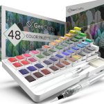 LIGHTNING DEAL!!! Watercolor Palette with Bonus Paper Pad by GenCrafts $23.79 (REG $39.99)