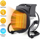 Electric Heat Fan Forced Ceramic Small Heaters with Adjustable Thermostat $36.99 (REG $99.99)