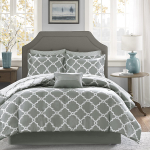 Madison Park Essentials Merritt Twin XL Size Bed Comforter Set Bed in A Bag – Grey, $41.92 (REG $259.95)