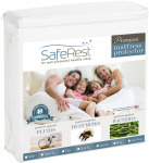 SafeRest Full Size Premium Hypoallergenic Waterproof Mattress Protector – Vinyl Free $25.95 (REG $59.95)