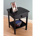 Winsome Wood 20218 Claire Accent Table, Black $36.13 (REG $67.49)