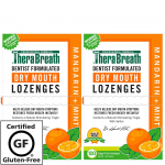 TheraBreath Dry Mouth Lozenges with ZINC, mandarin mint Flavor, 100 Lozenges (Pack Of 2) $15.94 (REG $24.12 )