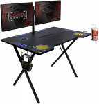 Atlantic Gaming Desk Viper 3000 – Computer Gaming Desk, LED Illumination, $157.49 (REG $399.99)