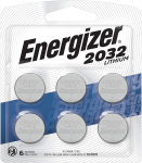 Energizer CR2032 Batteries, 3V Lithium Coin Cell 2032 Watch Battery, (6 Count) $5.29 (REG $14.99)
