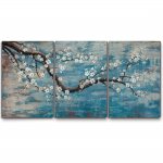 100% Hand-Painted Flower Oil Painting On Canvas Gallery Wrapped $57.99 (REG $119.99)