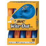 BIC Wite-Out Brand EZ Correct Correction Tape, White, 10-Count $10.99 (REG $.21.99)