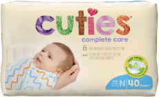 Cuties Complete Care Baby Diapers – Newborn (40 Count) $6.69 (REG $15.00)