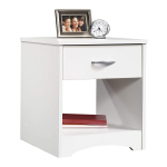 Sauder Beginnings Night Stand, Soft White finish $27.19 (REG $49.99)