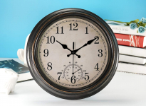 12 Inch Wall Clock with Thermometer,Battery Operated Waterproof$17.99 (REG $79.99)