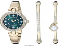 Anne Klein Women's Swarovski Crystal Accented Watch and Bangle Set, AK/3288 $49.99 (REG $150.00)