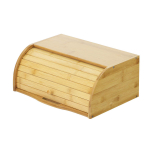 Betwoo Natural Wooden Roll Top Bread Box Kitchen Bamboo Storage Bin $19.99 (REG $41.09)