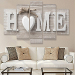 Eubell 5Pcs Wall Paintings, Home Letter Print Photo Paintings Wall Art $5.68 (REG $39.99)