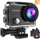 Crosstour Action Camera 4K 16MP WiFi Underwater 30M with Remote Control $49.99 (REG $129.99)