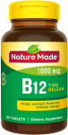 Nature Made Vitamin B12 1000 mcg Time Release Tablets, 160 Count $8.40 (REG $17.39)