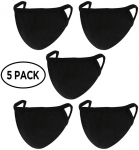 5 Pack Unisex Mouth Mask Adjustable Anti Dust Face Mouth Mask,Black Made in the USA $6.30 (REG $19.88)