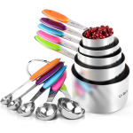 U-Taste 10 Piece Measuring Cups and Spoons Set in 18/8 Stainless Steel $18.69 (REG $32.05)
