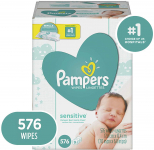 Baby Wipes, Pampers Sensitive Water Based Baby Diaper Wipes $13.24 (REG $19.99)