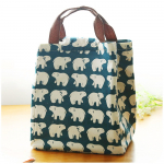 Cute Reusable Insulated Cotton Lunch Bag