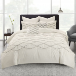 Urban Habitat Sunita Cotton Pieced Tufted and Embroidered Duvet Cover Set $39.72 (REG $202.11)
