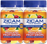 ZICAM Cold Remedy Medicated Fruit Drops, Assorted Fruit, 2 Count $26.99 (REG $38.99)