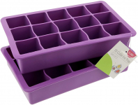 LIGHTNING DEAL!!! Elbee Home 613 Set Of 2 Silicone Ice Cube Trays$7.90 (REG $9.97)