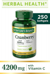 Cranberry Pills w/Vitamin C by Nature's Bounty, Supports Urinary & Immune Health, $14.08 (REG $22.99)
