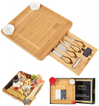 Cheese Board and Cutlery Set (Top Quality Elegant Packaging) $39.99 (REG $79.99)