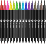 15 Pack ArtWerk Colored Brush Pen [Non-Toxic & Odorless] Markers Set $9.99 (REG $199.99)