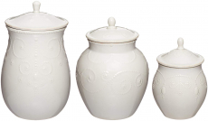 Lenox French Perle Canisters $92.99 (REG $186.00)