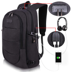 Backpack Water Resistant Anti-Theft Bag with USB Charging Port and Lock $31.99 (REG $68.99)