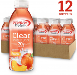 LIMITED TIME DEAL!!! Premier Protein Premier Clear Protein Drink Peach $15.39 (REG $21.99)