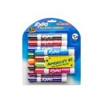 EXPO Low Odor Dry Erase Markers, Chisel Tip, Assorted Colors, 12 Count $7.99 (REG $17.99)
