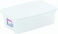Sterilite 16 Quart Basic Clear Storage Box with White Lid (Pack of 2) $14.12 (REG $31.00)