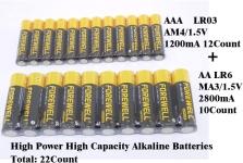 FOREWELL AA AAA High-Power High-Capacity Alkaline Batteries$7.99 (REG $11.98)