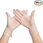 Disposable Vinyl Gloves Latex Free, Powder Free Clear Gloves for Cleaning, Cooking $15.80 (REG $39.80)