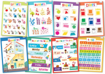 merka Educational Posters.Toddler Set 8 Large Posters. Letters, Numbers, Shapes etc. $8.95 (REG $14.99)