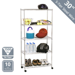 Seville Classics 5-Tier Steel Wire Shelving with Wheels $49.88 (REG $89.99)