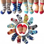 Kakalu Assorted Non-Skid Ankle Cotton Socks with Grip for 12-36 Months Baby $7.59 (REG $18.99)