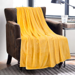 LIGHTNING DEAL!!! Bedsure Fleece Blanket Twin Size Gold Yellow Lightweight Blanket $13.31 (REG $20.99)