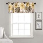 Lush Decor Leah Floral Window Curtain Valance $4.44 (REG $49.99)