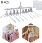 Nifty Essentials Space Saving Magic Hangers for Clothes, Shirts, Skirts (8 in 1)$12.99 (REG $39.99)