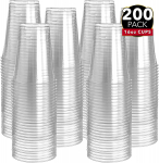 200 Clear Plastic Cups | 16 oz Plastic Cups | Clear Disposable Cups $16.14 (REG $39.99)