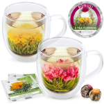 Teabloom Extra-Large Insulated Double Wall Glass Mugs $25.95 (REG $36.95)