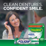 Polident Overnight Whitening Antibacterial Denture Cleanser Effervescent Tablets $5.88 (REG $11.84)