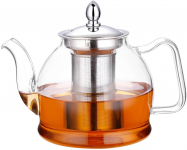 Hiware 1000ml Glass Teapot with Removable Infuser, Stovetop Safe Tea Kettle,$18.59 (REG $31.99)