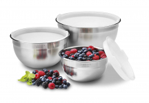 Stainless Steel Mixing Bowls with Lids, Set of 3 $24.98 (REG $64.00)