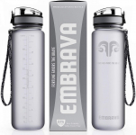 LIGHTNING DEAL!!! Embrava Best Sports Water Bottle – 32oz Large $15.85 (REG $29.95)