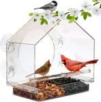 LIGHTNING DEAL!!! Window Bird Feeder House by Nature Anywhere with Sliding Feed Tray $19.99 (REG $39.90)
